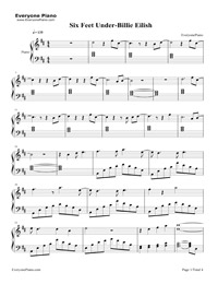 When The Party's Over Sheet Music Billie Eilish ...