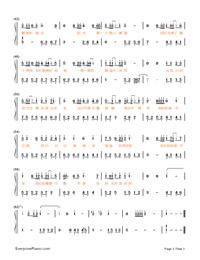 最美的时光-王源双手简谱预览1-钢琴谱文件(五线谱图片