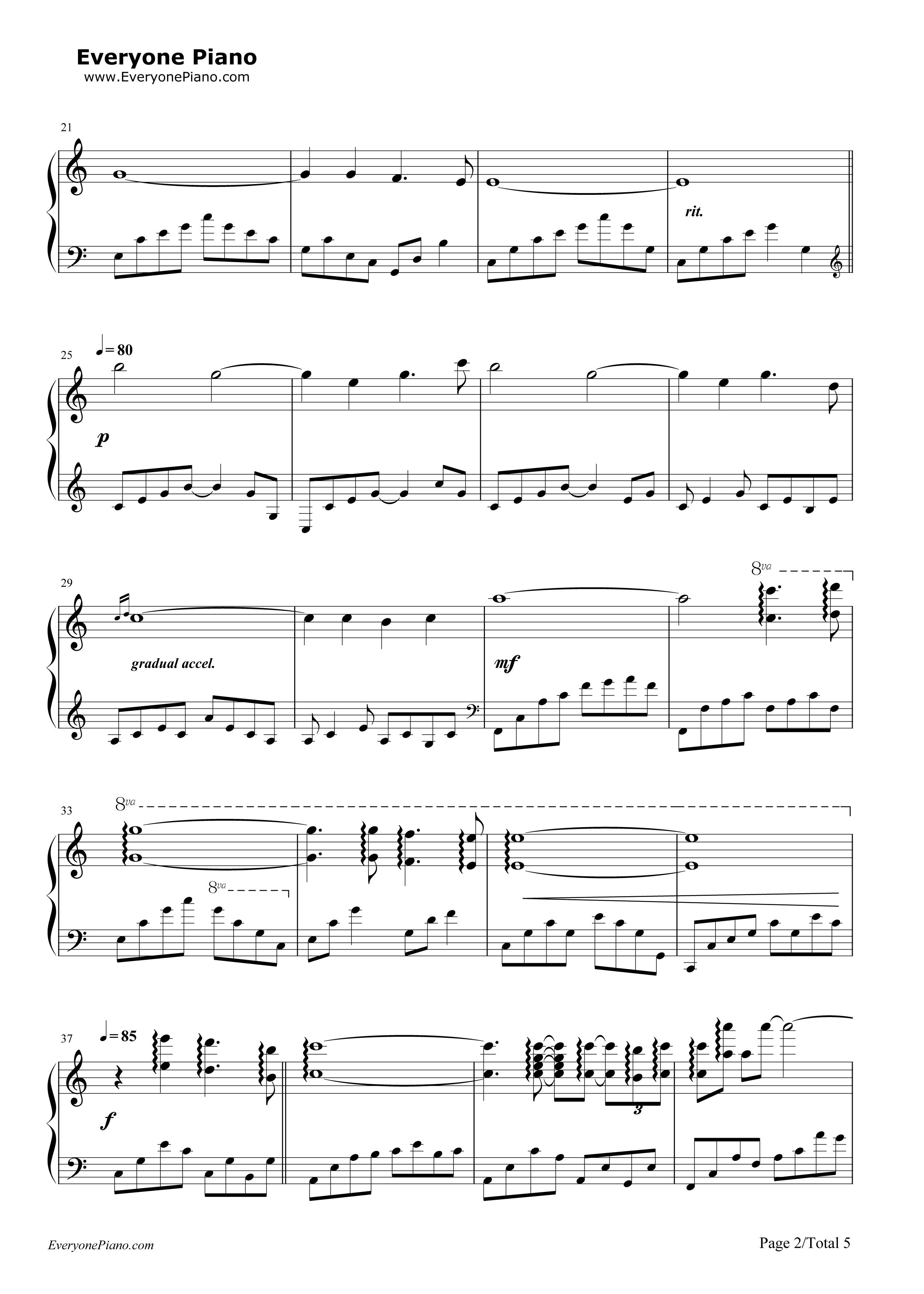 钢琴曲谱 经典 gracefully-giovanni marradi(乔瓦尼) gracefully