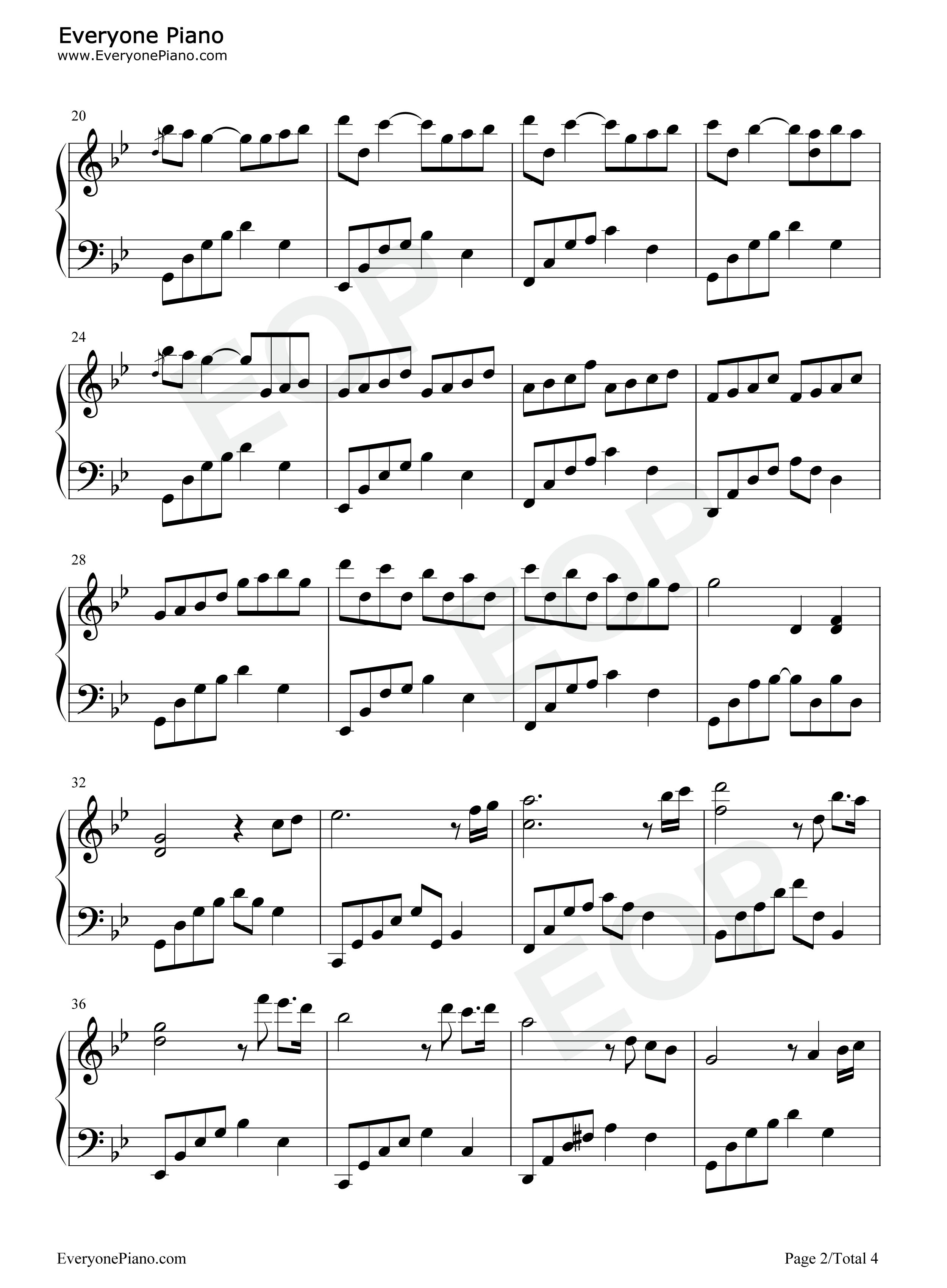 恍若如梦 夜的钢琴曲 II五线谱预览 EOP在线乐谱架