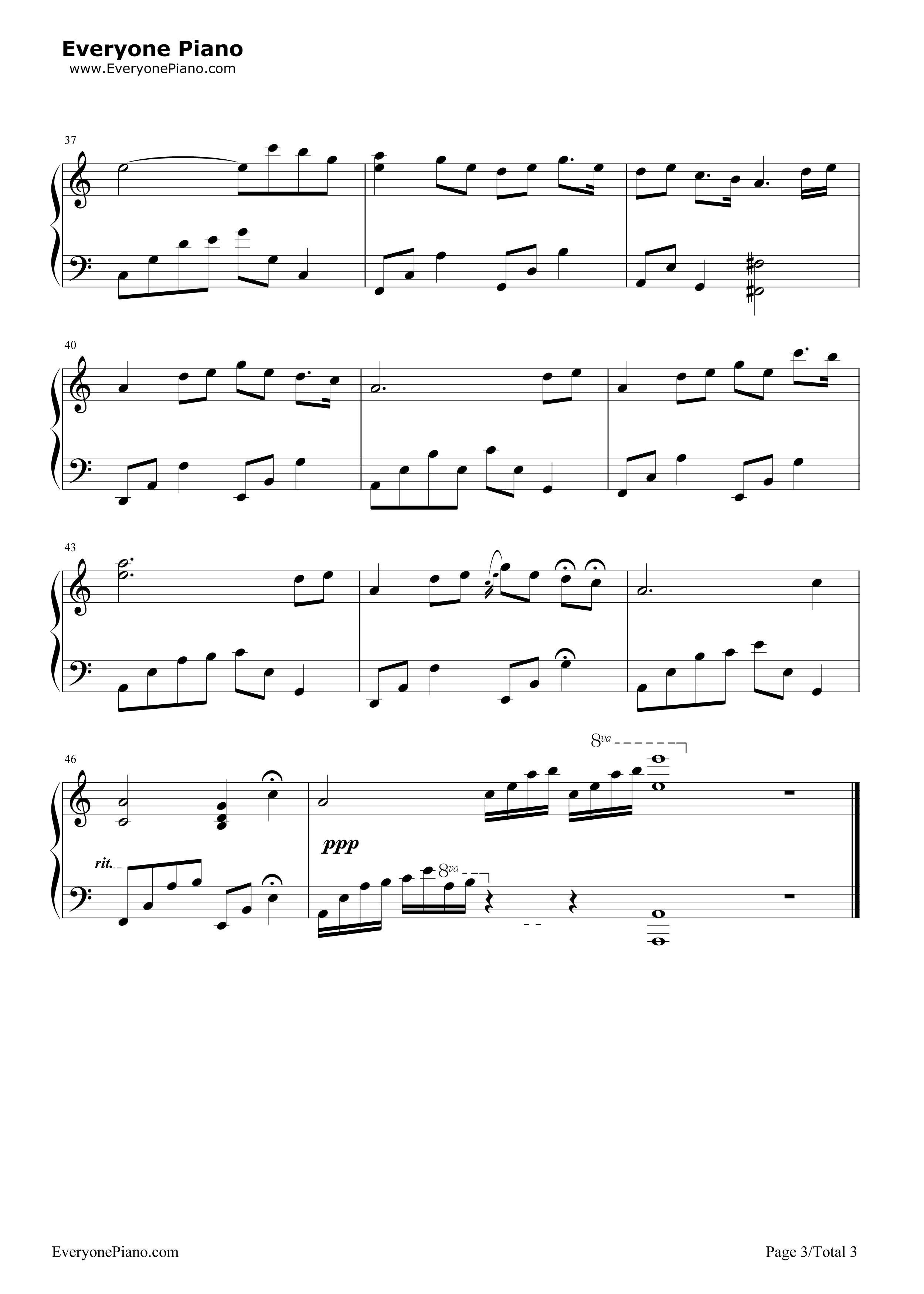 石进夜的钢琴曲1_街道的寂寞-夜的钢琴曲 Ⅲ五线谱预览-EOP在线乐谱架
