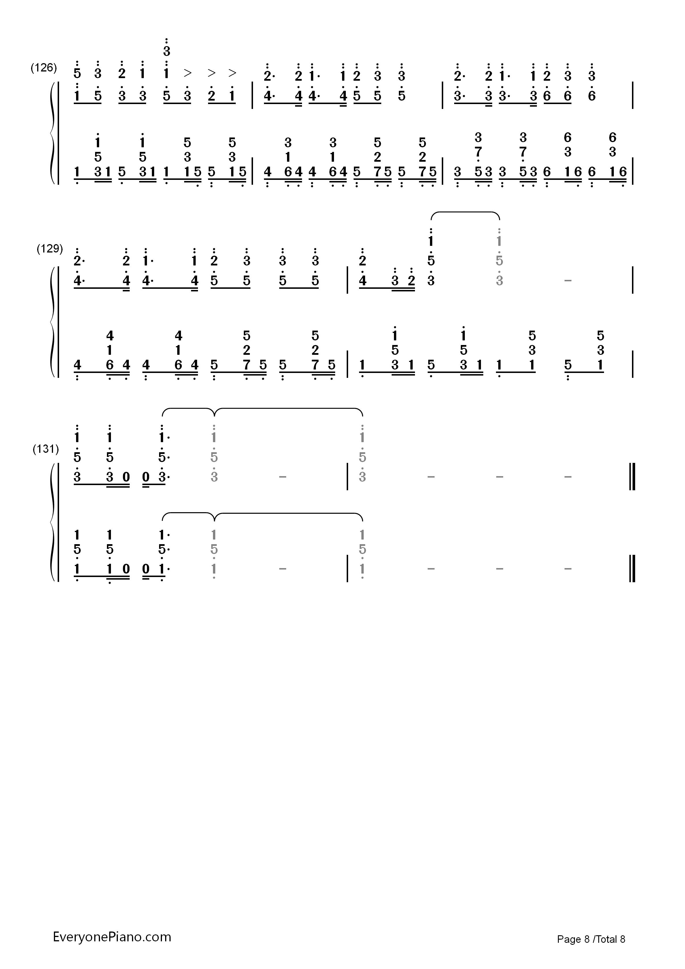 神のまにまに-初音未来,镜音双子,gumi双手简谱预览8