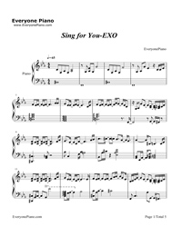 Sing for You-EXO五线谱预览1