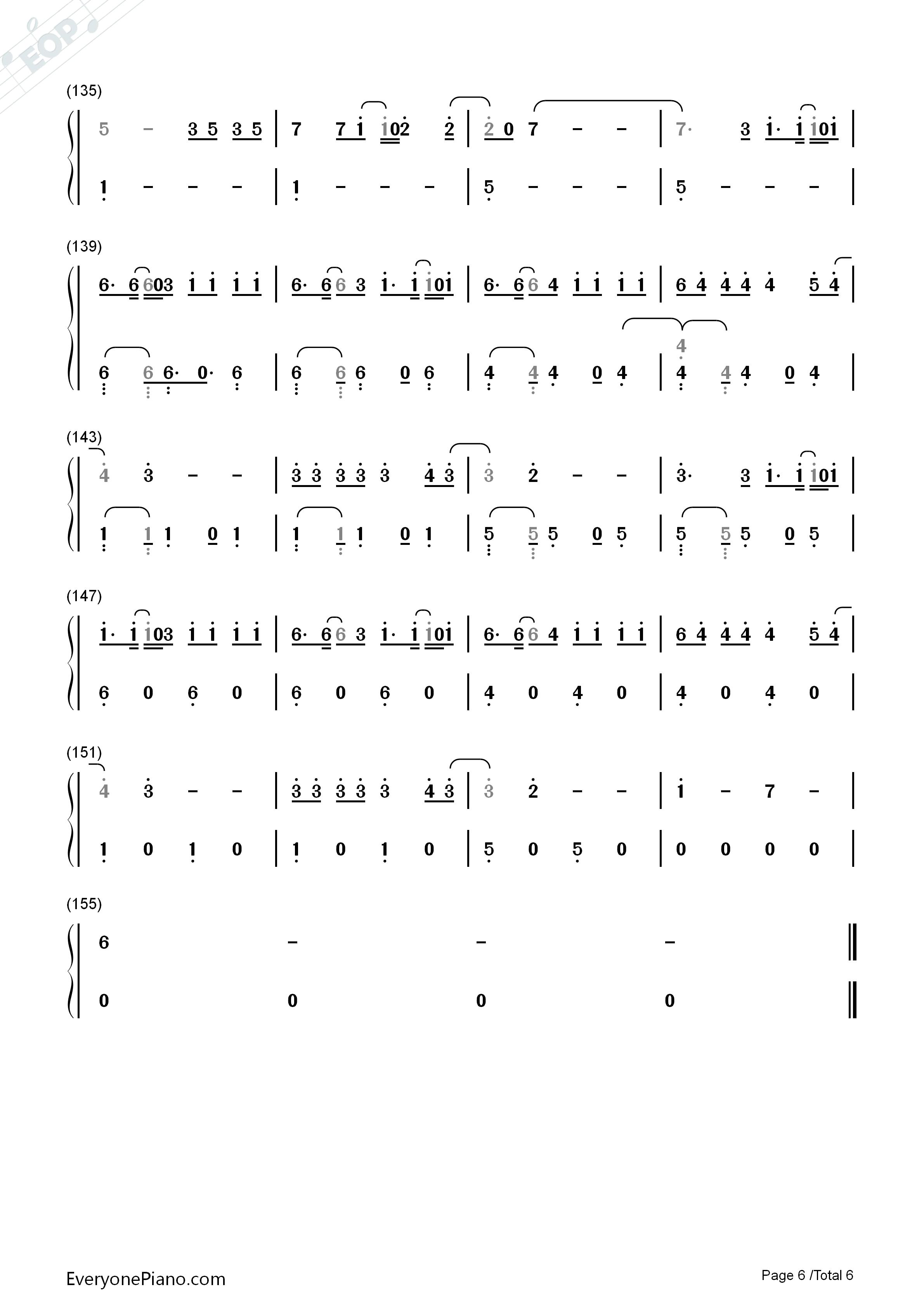 Despacito简单版-Luis Fonsi双手简谱预览-EOP在线乐谱架