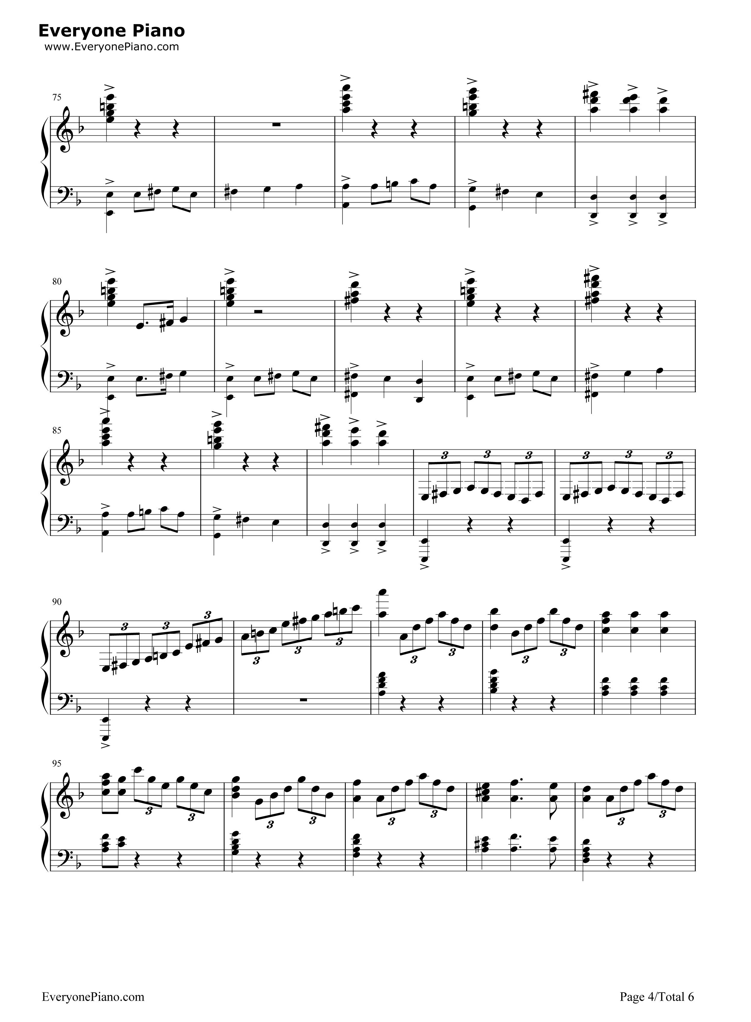 加勒比海盗钢琴谱