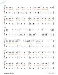 最初的记忆-夏至未至片尾曲双手简谱预览2-钢