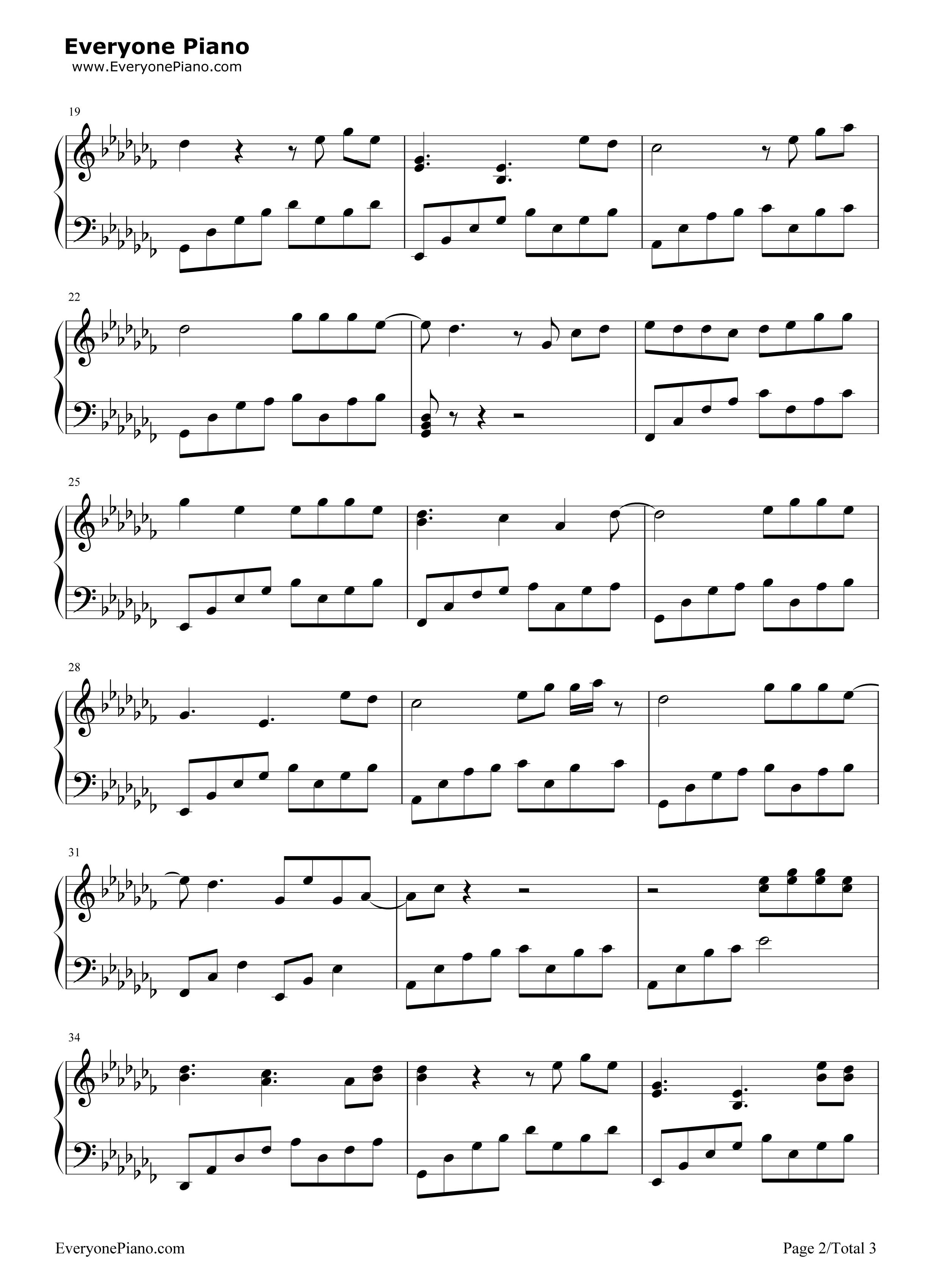 故梦-双笙五线谱预览2-钢琴谱文件(五线谱,双手简谱
