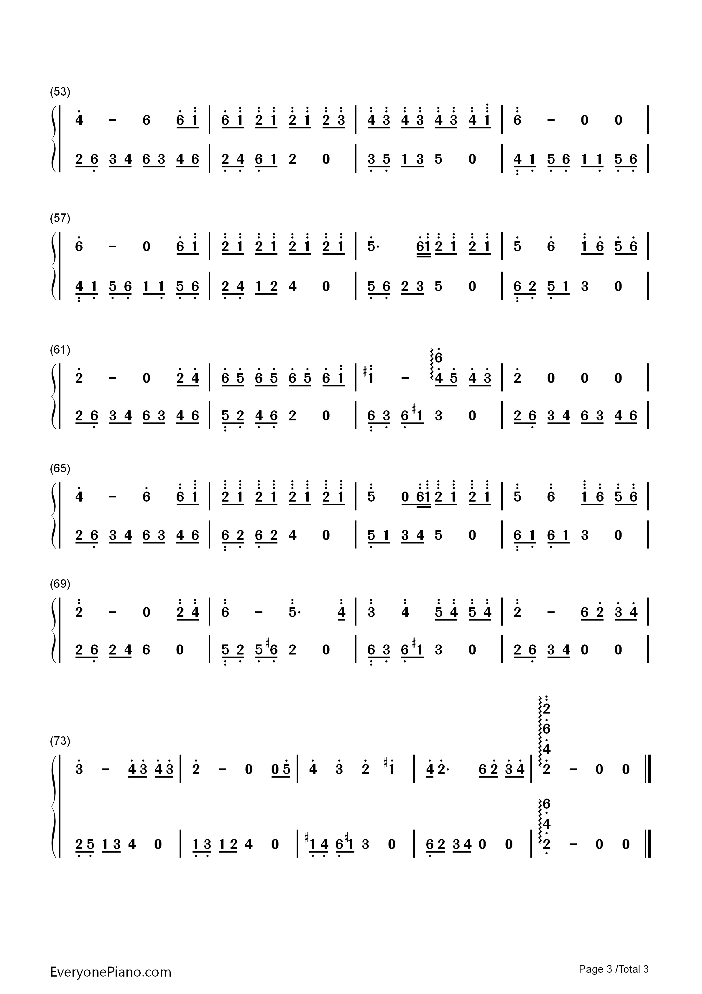 长大的时限-夜的钢琴曲 7双手简谱预览3图片