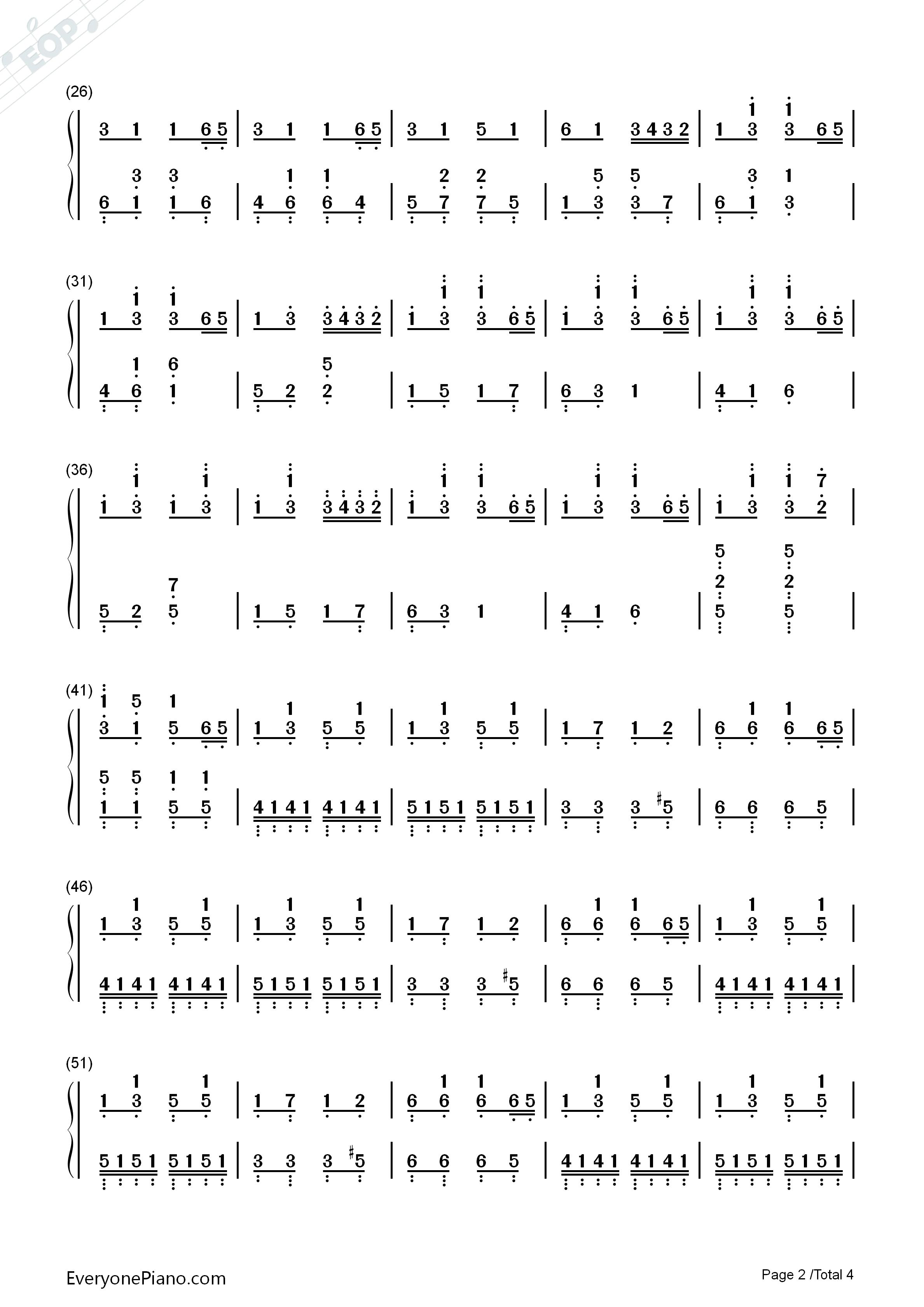 钢琴曲谱 练习曲 踩到猫儿-拜厄 踩到猫儿-拜厄双手简谱预览2  亲,在图片