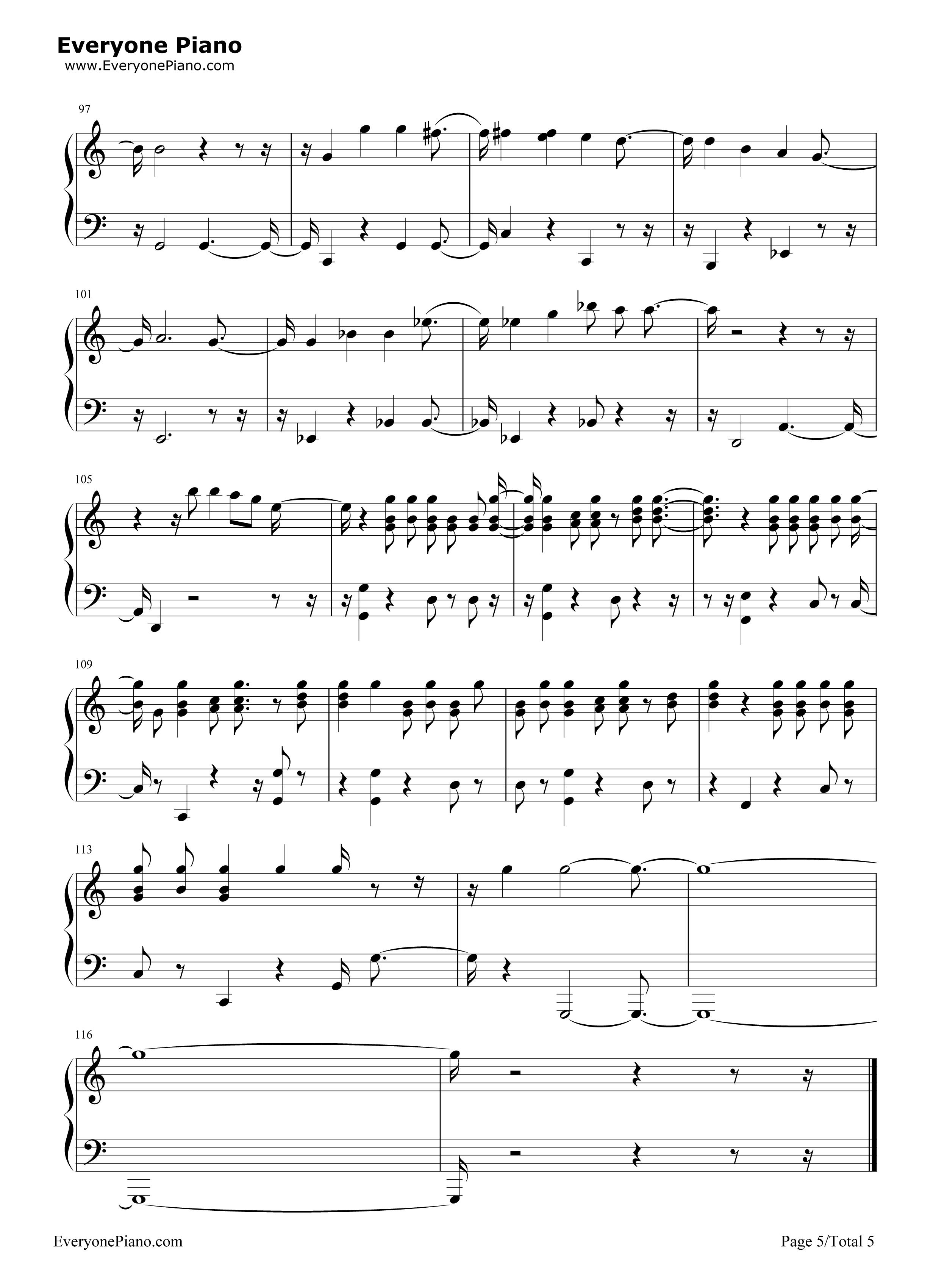 游记主题歌_remember me-寻梦环游记主题曲五线谱预览5