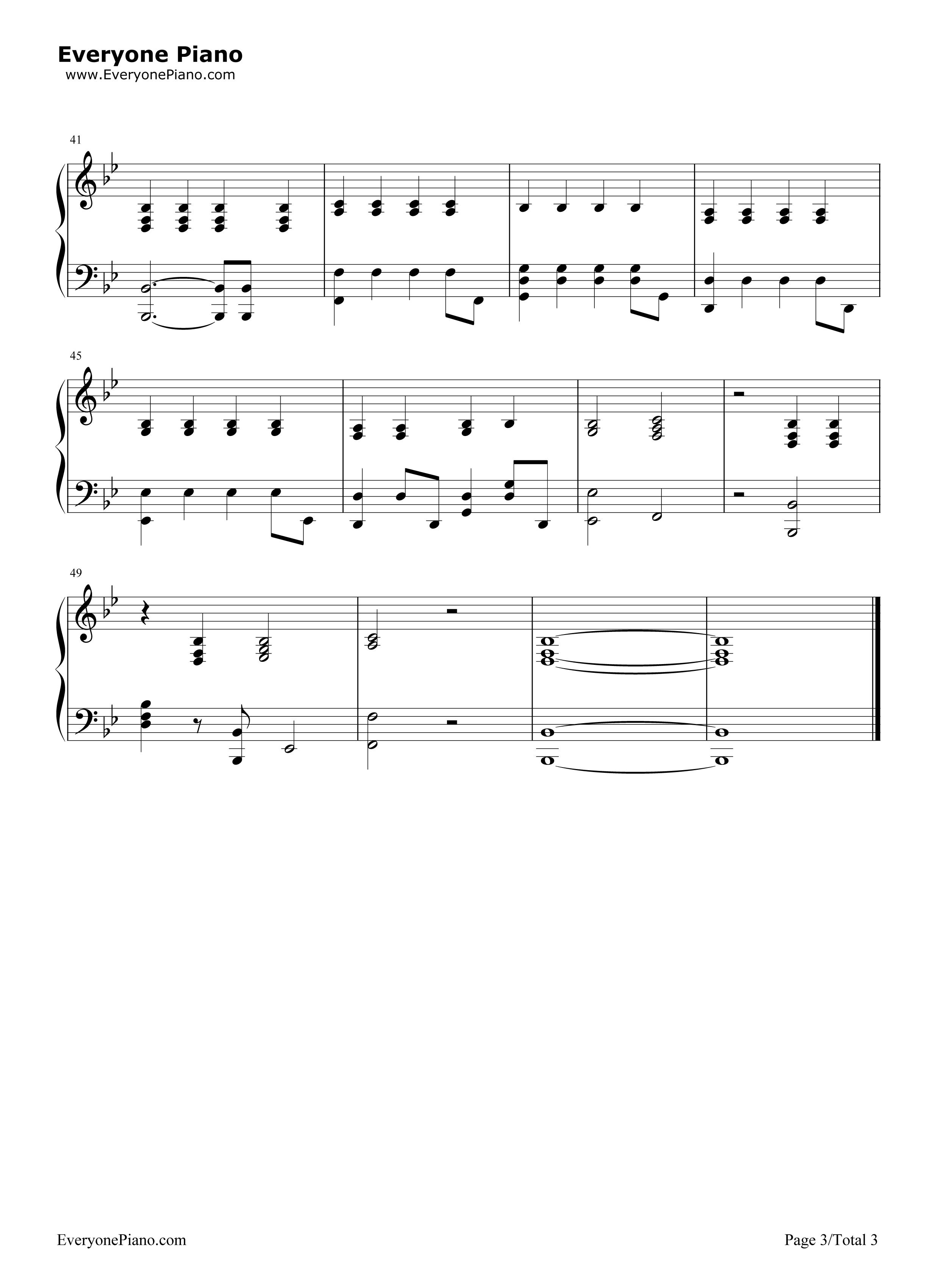 体面-伴奏谱-前任3再见前任插曲五线谱预览-E