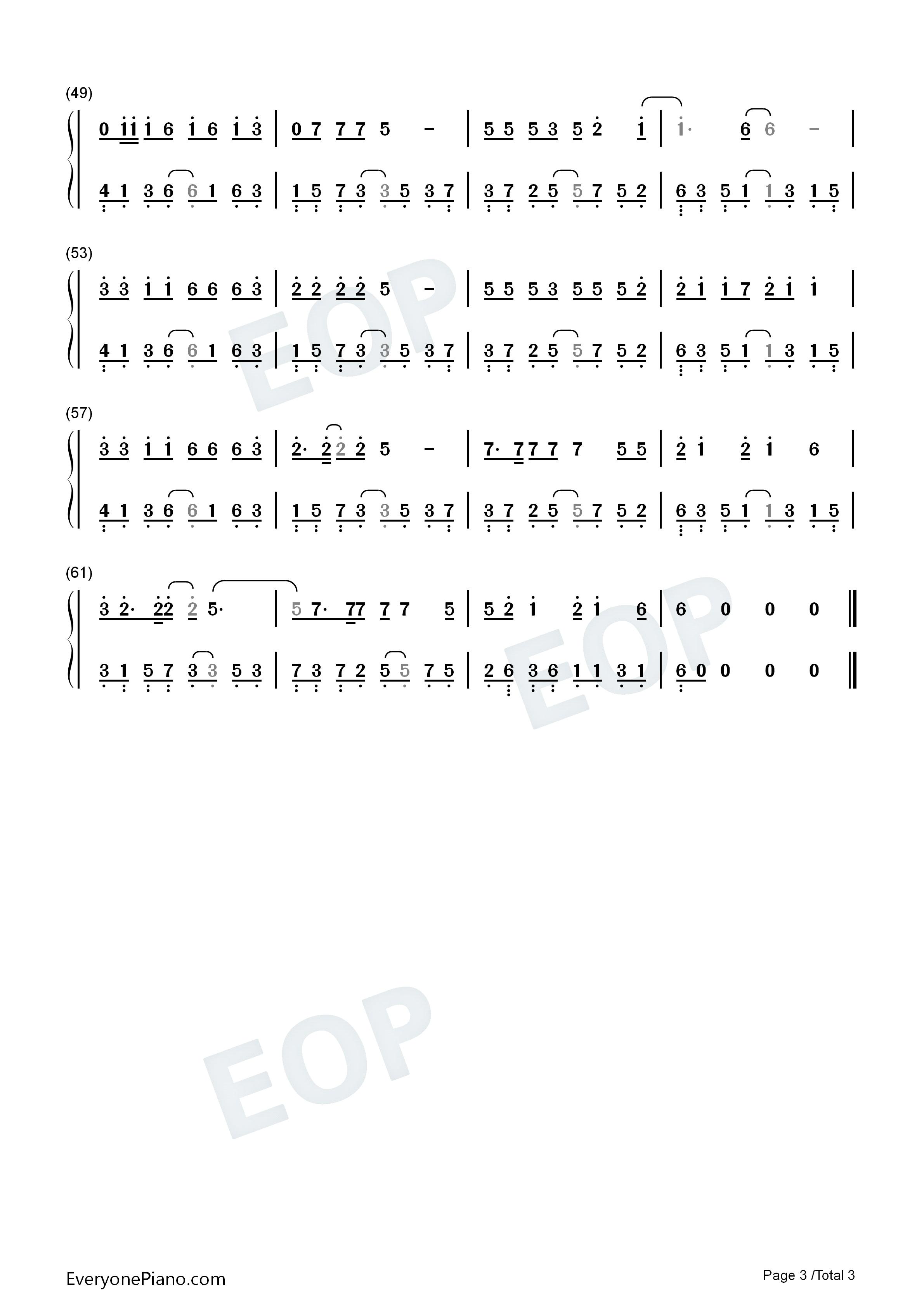 红昭愿-音阙诗听双手简谱预览3