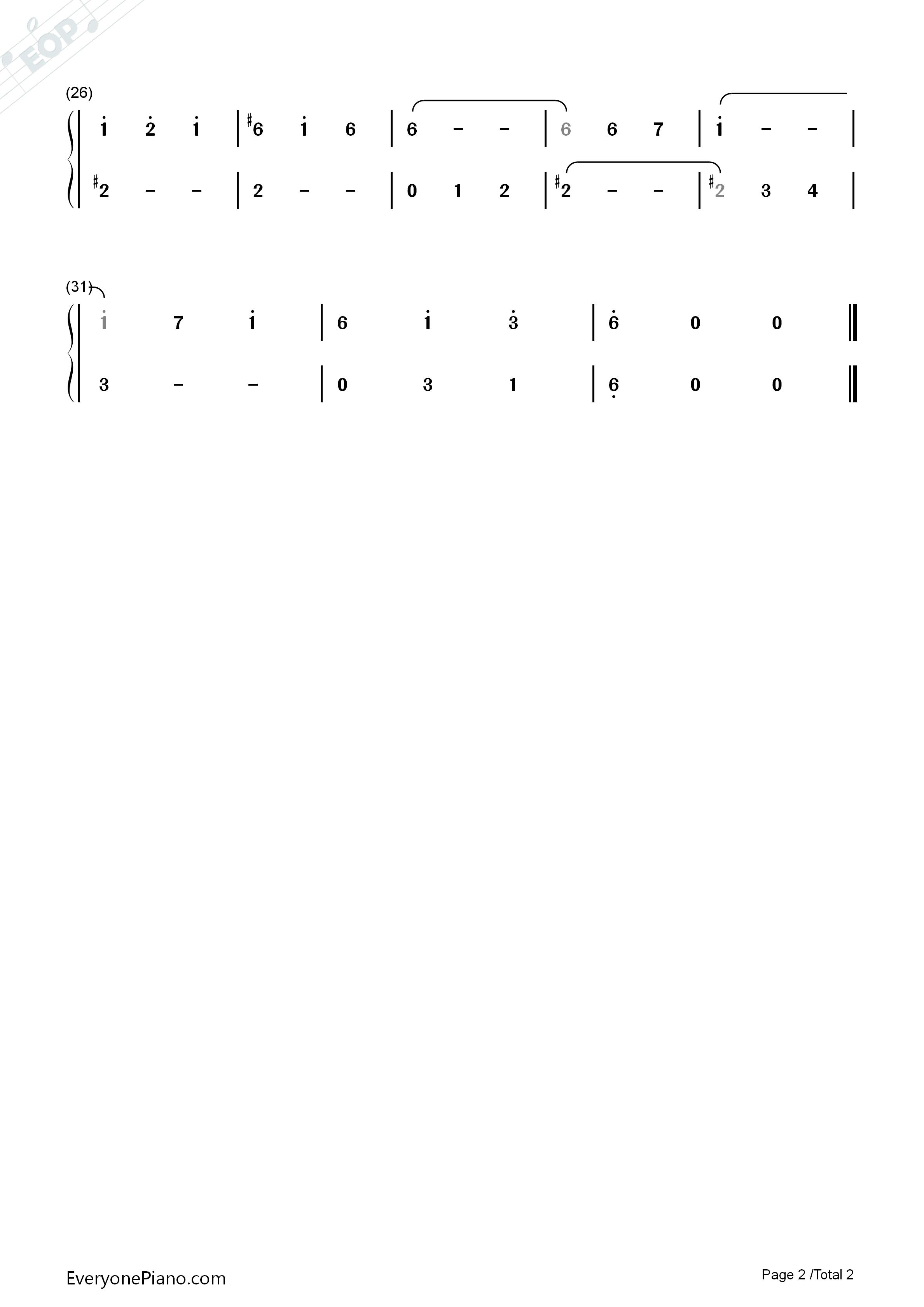 圆舞曲-肖斯塔科维奇双手简谱预览2