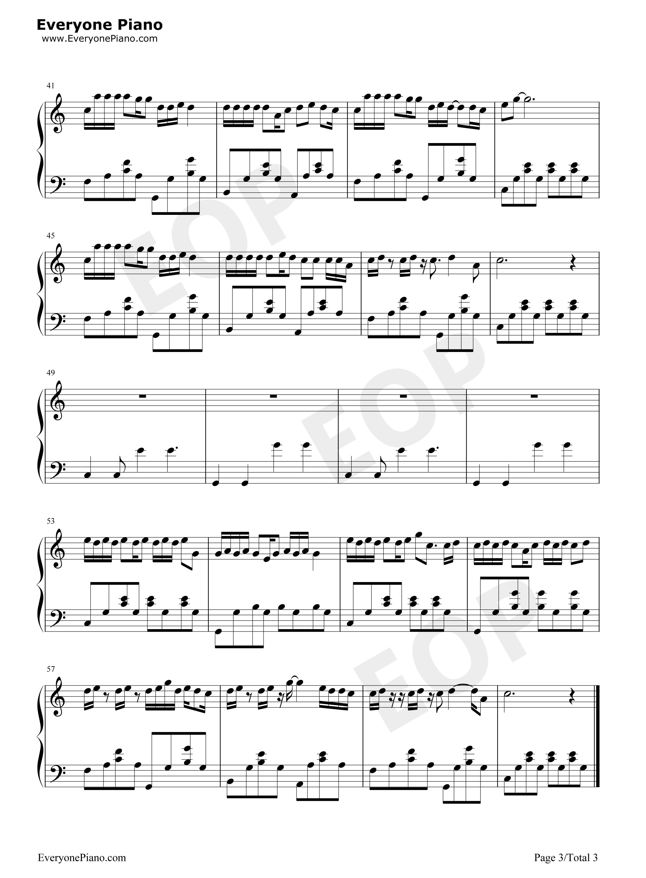 走马-陈粒五线谱预览3-钢琴谱文件(五线谱,双手简谱