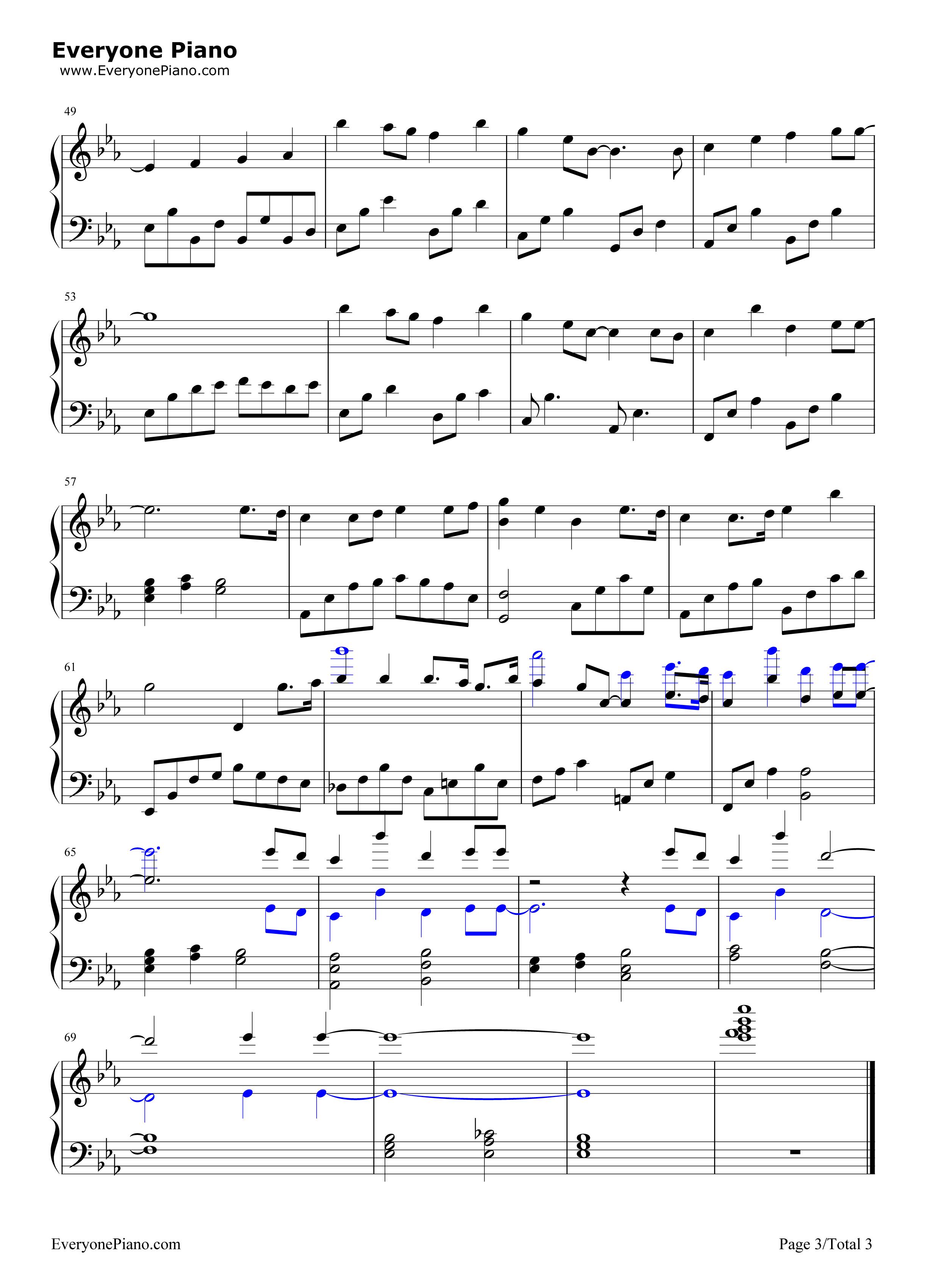 妈妈宝贝-李冰冰五线谱预览3-钢琴谱文件(五线谱,双手图片