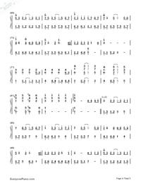 完整版简谱_纸短情长-完整版双手简谱预览1