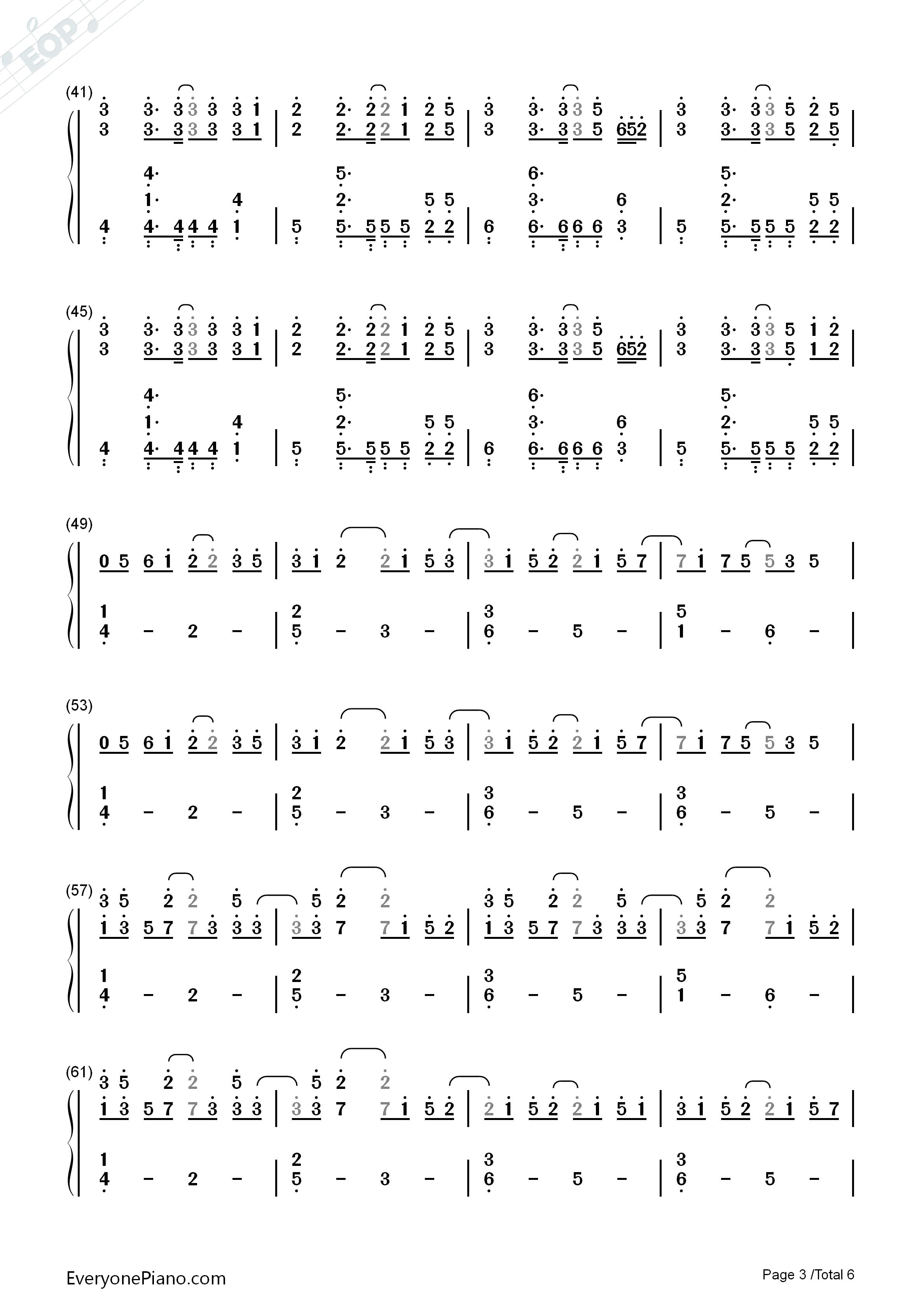 夜的钢琴曲五钢琴谱_China-X-徐梦圆双手简谱预览-EOP在线乐谱架