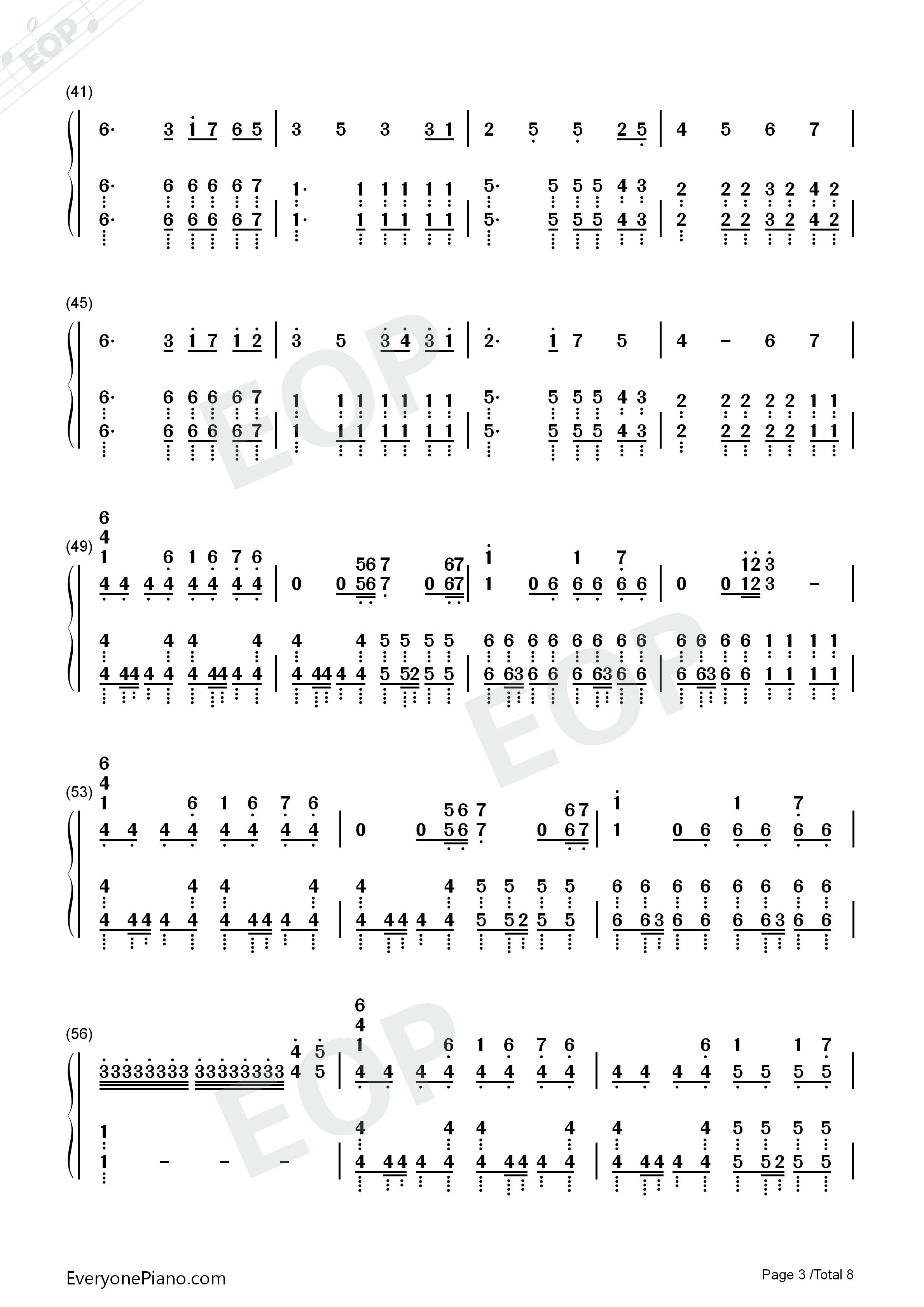 victory-完整版双手简谱预览3-钢琴谱文件(五线谱,,谱