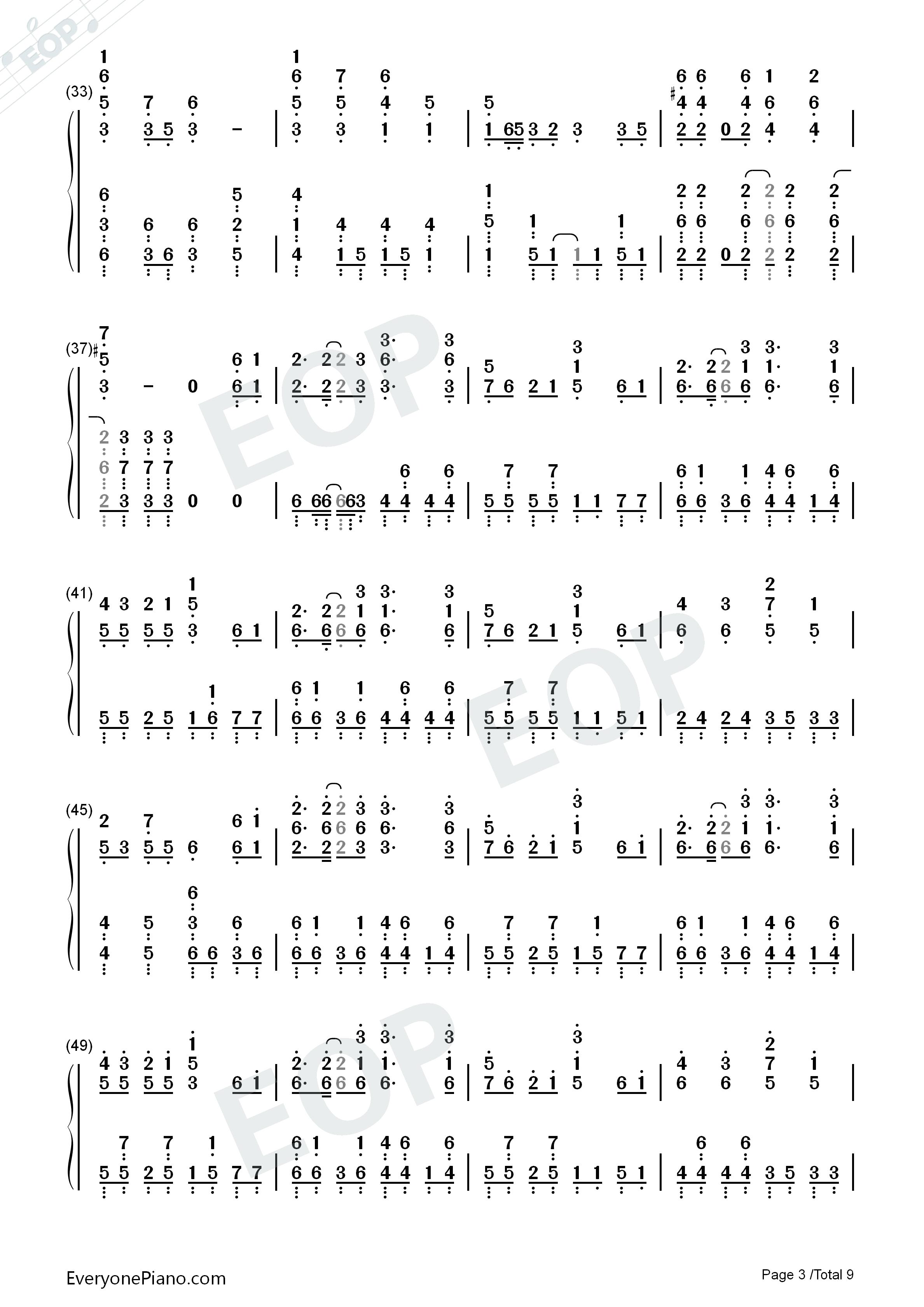 千本樱-钢琴原版图片