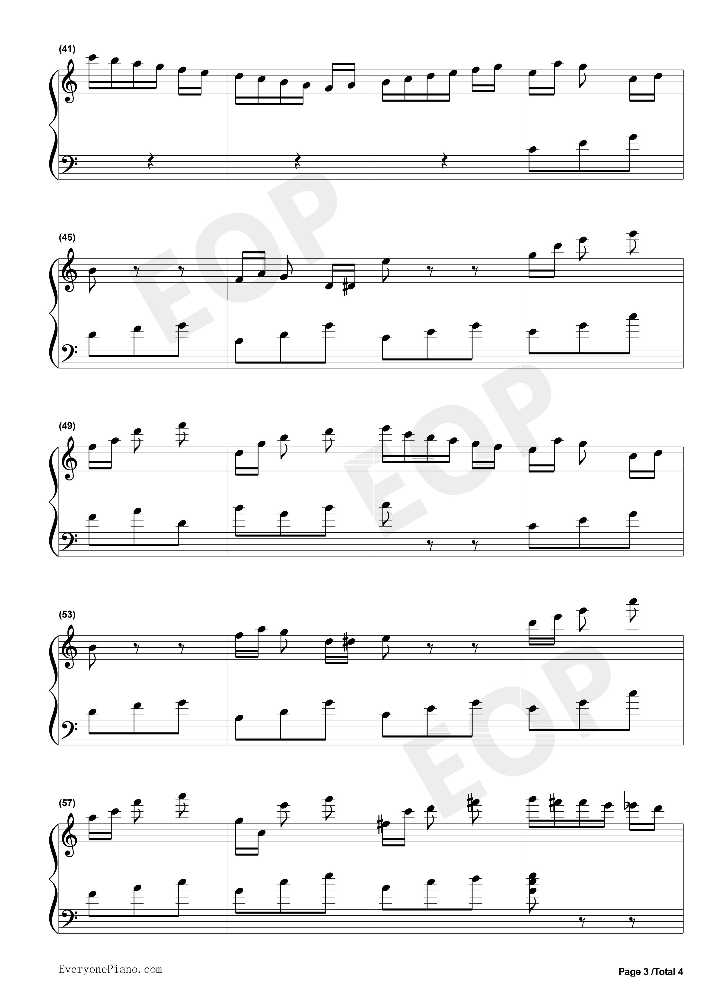 八音盒五线谱预览3-钢琴谱文件(五线谱,双手简谱,数字