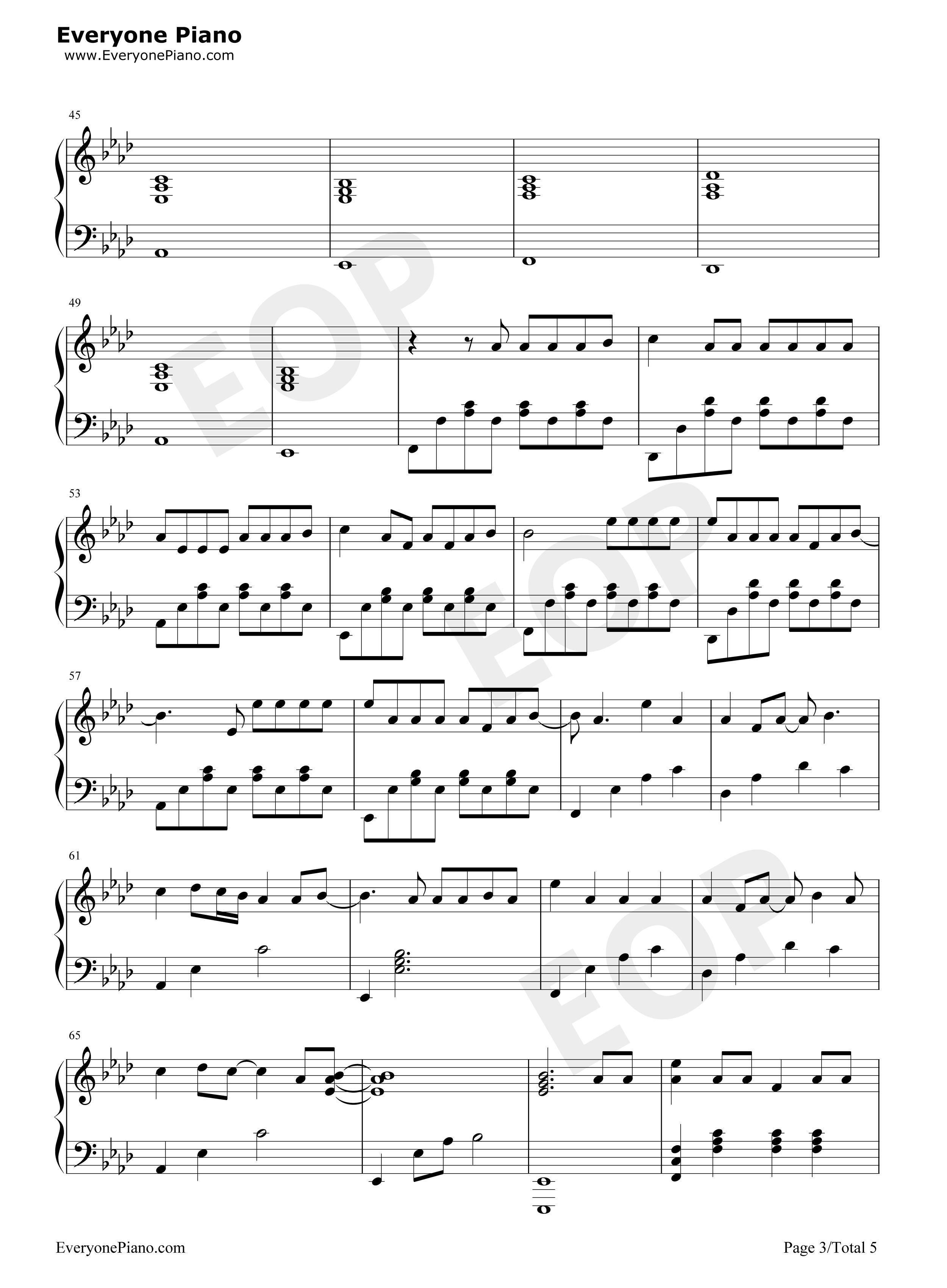 下坠falling钢琴谱图片